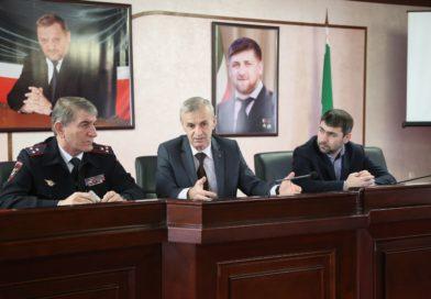 Обсуждение региональных проектов, входящих в нацпроект «Безопасные и качественные автомобильные дороги Чеченской Республики»