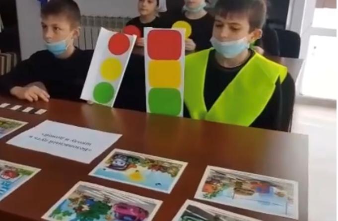 В Курчалоевском районе Чеченской Республики прошло профилактическое мероприятие «Грамотные пешеходы»