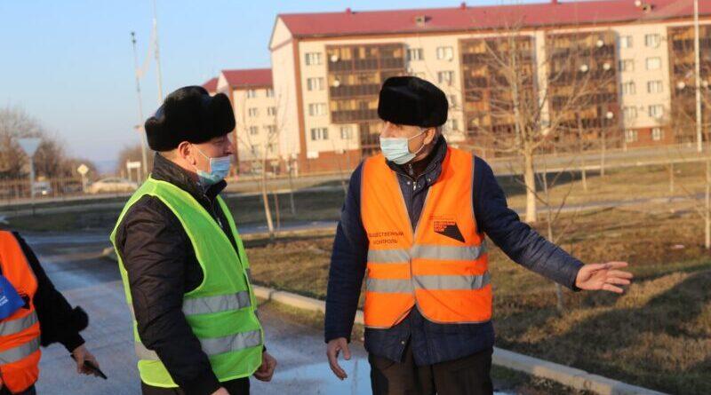 Выезд общественных контролеров на объекты дорожного нацпроекта г.Аргун