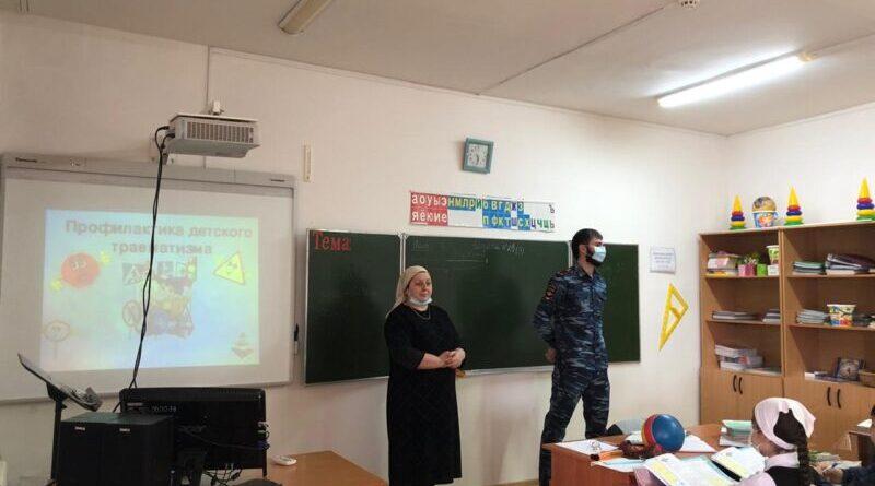 В селе Чечен-Аул  Чеченской Республики  в рамках нацпроекта прошло мероприятие  по профилактике детского дорожно-транспортного травматизма